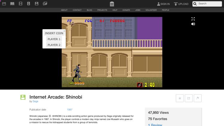 Screenshot_2019-09-10 Internet Arcade Shinobi Sega Free Borrow Streaming Internet Archive
